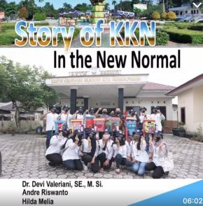 Strory of KKN in The New Normal oleh Dosen Program Studi Ekonomi